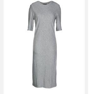 Armani Exchange Gray Midi T-Shirt dress